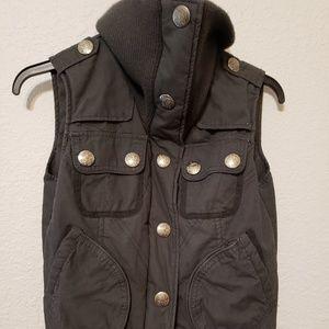 JACK BB DAKOTA  Vest Sz S Grey zip button up